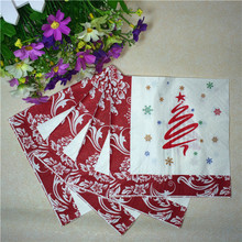 33cm*33cm 20pcs/bag Merry Christmas party decoration Christmas tree Elk wapiti snowflake Napkin Festive Tissue Napkins Decoupage