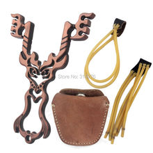 Firefox Strong Slingshot Catapult+Geninue Leather Steel Ball Ammo Pouch Bag + 2x Slingshot Rubber Band
