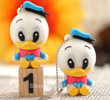 100% real capacity Cute donald Duck Little  8G/16G USB flash drive Pen Drive Disk Flash Memory Stick pendriveping S243 #AA