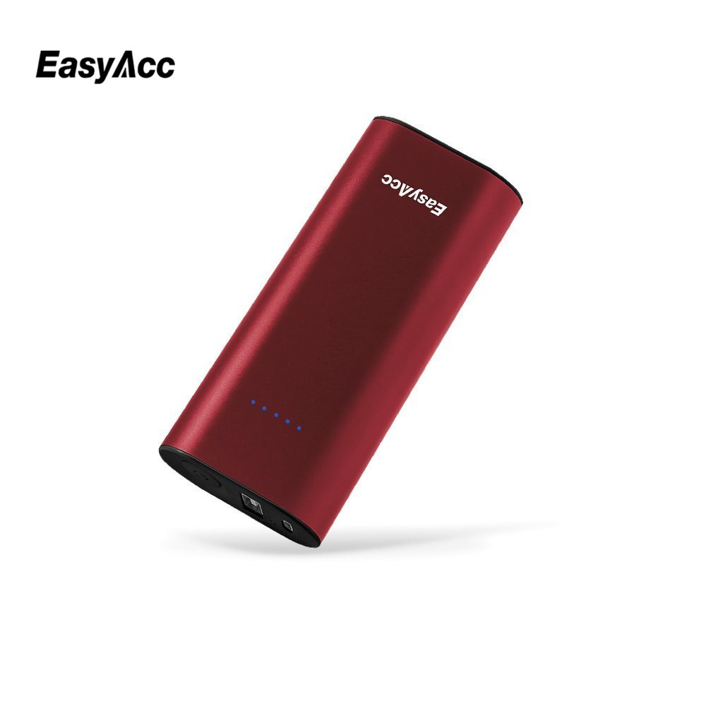 EasyAcc 6400mAh Power Bank 2.4A Dual USB Port powerbank External Battery Pack Metal Portable Travel Charger For IPhone 7(China (Mainland))