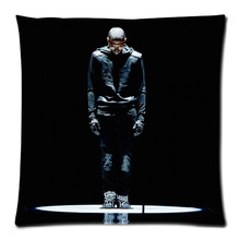 2015 Popular Singer Star Chris Brown TattooThrow Pillow cover Good Quality Pillow Case Covers 35x35(One Side)199
