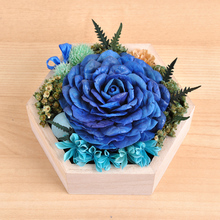 Flower rose gift of eternal life  Rose glass conservatory preserved flower gift ideas Festival  Mother's Day birthday gift