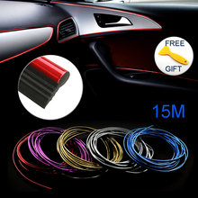15M/lot Auto Car-Styling Door Dashboard Air Outlet DIY Steering-Wheel Interior Decoration Mouldings Line Strips Car Accessories(China)