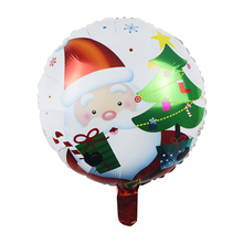 1pc/4pcs 45cm Round Santa Claus Snowman Tree Helium Inflatable Foil Balloon Merry Christmas Party Decor Children Gift Toy 2017