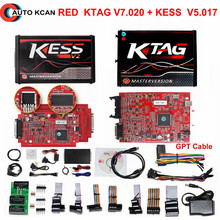 No Tokens RED Ktag K TAG V7.020 KESS V2 V5.017 V2.23 ECU Chip Tuning EU Master Online Manager Tuning Kit For Car Truck(China)