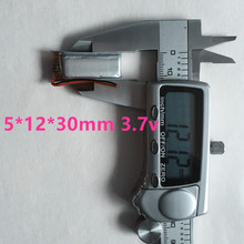 2pcs Watch point of time machine battery , battery point reading pen , mini DV rechargeable lithium battery 501230 130MAH