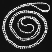 "8SEASONS silver-color Ball Chain Necklaces 80cm(31 4/8"") long,12PCs (B31374)"