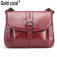 Famous brand genuine leather Ladies messenger bags with high quality small real cowhide women shoulder bags crossbody bags