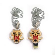 Tiger face necklace usb2.0 8GB 16GB usb flash drive