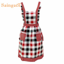 Saingace Women Lady Restaurant Home Kitchen Bib Cooking Aprons With Pocket  quality first