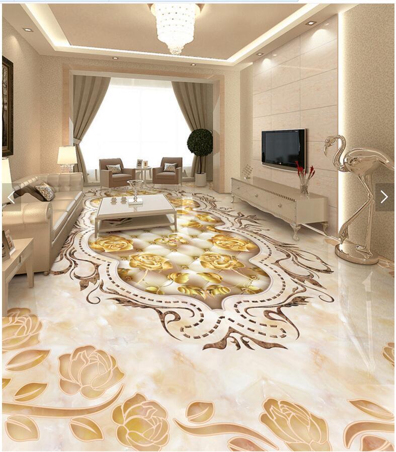 Custom mural 3d flooring picture pvc self adhesive European style Marble texture parquet decor painting 3d wall murals wallpaper<br>
