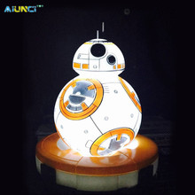AIUNCI Toys BB8 Action Figure table lamp The Star Wars BB-8 LED Lights Quiet sleep Night Light Toys for children + Original box