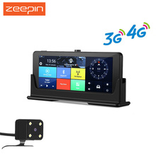 ZEEPIN 4G/3G WiFi Car DVR Dash Cam GPS Navigation 7 Inch Android Large Touch Screen HD 1080P Rearview Camera Multimedia Player(China)