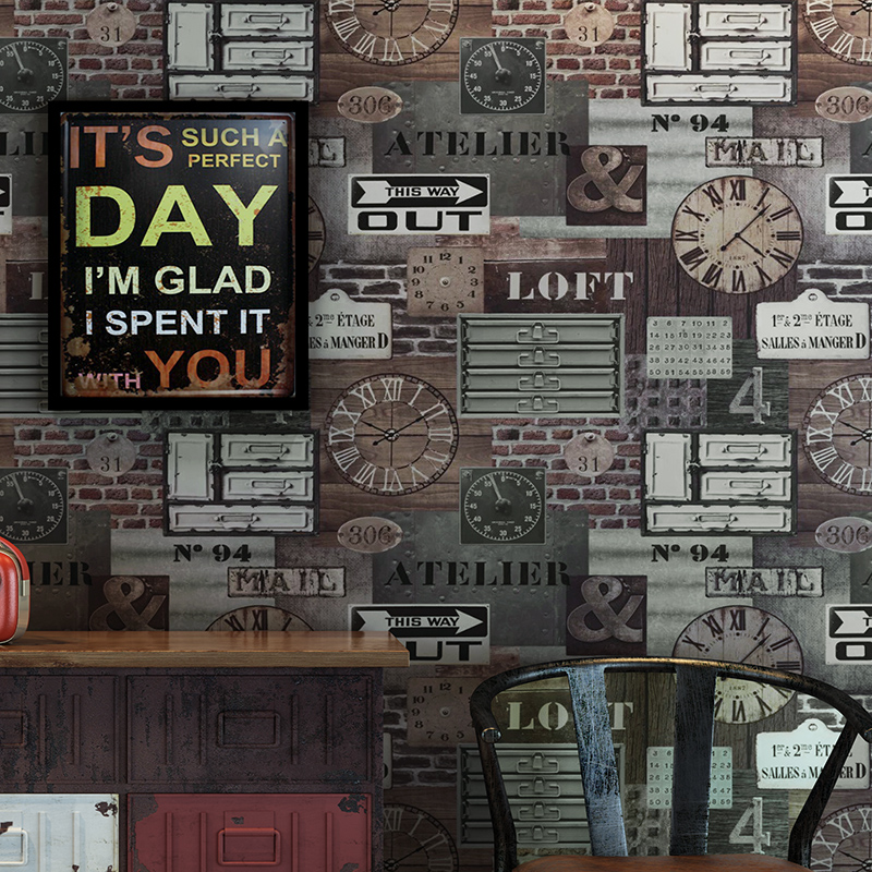 Hot Classic Style Wallpaper Industry British Nostalgia Brick Grain Bedroom Living Room Sofa Background  Wall Paper Roll <br>