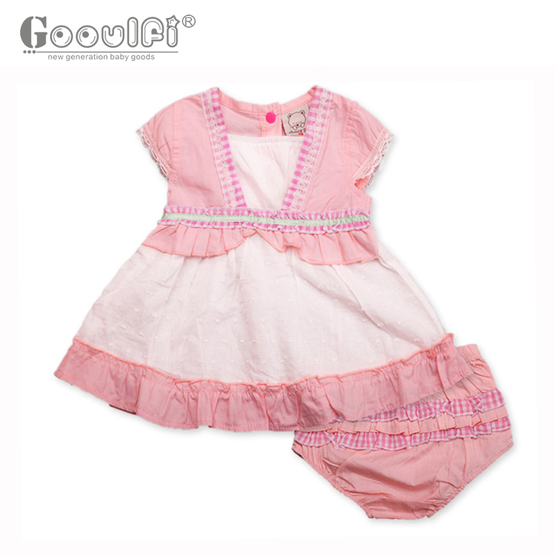 Gooulfi Baby Clothing Recommend 2 Pieces Baby Girl Clothes Set Pink O-neck Pullover Causal Newborn Girl Clothes Summer Cotton<br>