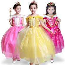 2017 Christmas New Year dress of girl's Princess Dress Children Dresses Elsa Aurora Princess Dress Halloween Costume Party Dres
