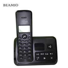 Call ID Answer System Telephone Digital Cordless Phone with Call ID Backlight Black Telefone For Home Hotel Office