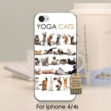 soft black tpu silicone  Popular Interesting Yoga Cats DIY Beautiful Phone Accessories For iPhone se 5s 6s 7 plus 4 4s case