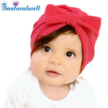 9e22fe837ec Bnaturalwell Baby turban hat with bow Turbans for tots Little girls Cotton Topknot  beanie Baby girls shower gift stretchy H114D