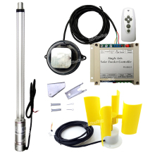 "1500N DC Motor 18"" Stroke Linear Actuator &Controller &IR Remote &Anemometer for DIY Single Axis PV Solar Panel Tracking Tracker"