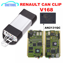 Latest V168 Renault CAN Clip Diagnostic Tool Quality A+ Gold Edge CYPRESS AN2131QC Full Chip PCB Full System For Renault Clip