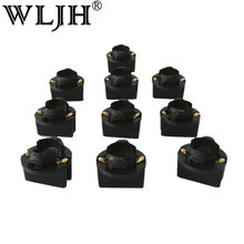 "WLJH 100x T10 1/2"" Universal Double Contact Instrument Panel Cluster Light Socket 501 168 194 2825 T10 W5W Twist Lock Wedge Base(China)"