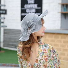 Hats New Pattern Flower Wave Edge Real Silk Sun Hat Woman Sunscreen Will Eaves Sandy Beach Hat Go Shopping Sun Hat