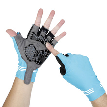 Buy New Cool Half Finger Cycling Gloves Anti Slip Breathable Motorcycle MTB Road Bike Gloves Men Women Sports Bicycle Gloves for $2.99 in AliExpress store