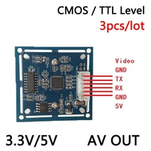 NEW solutions 3pcs/lot   RS232/TTL JPEG  Serial Port CCTV Camera  Module SCB  with video out Support VIMICRO  VC0706 protocol