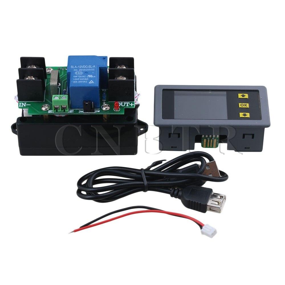 CNBTR Metal &amp; Plastic 0-30A/DC0-120V LCD Digital Multimeter Voltmeter Ammeter Tester Volt Current Meter Electricity Usage<br>