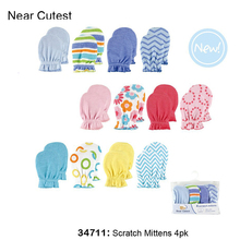 Near Cutest 4pcs/lot Baby Mittens Full Finger Gloves  Infant Gloves