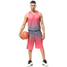Men cheap basketball jerseys sets Breathable teens college team training jerseys breathable basketball throwback jerseys uniform(China)
