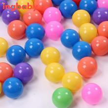 20pcs New Diameter 5.5cm Thick Green Plastic Sea Ball Safety Multi-color Toy Ball Ocean Balls for the pool Toy WJ811Q20 ingbaby