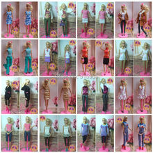 discount wholesales 100pieces/lot cloth(dress) Fashion Clothes Suit For 1/6 BJD doll(China)