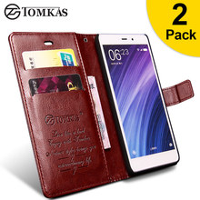 Xiaomi Redmi 4 Pro Case Cover TOMKAS Flip Wallet PU Leather Prime Stand - Tomkas Official Store store