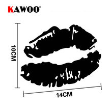 KAWOO 2pcs/lot Sexy Lips Cover Scratches Lips Lip Prints Converted Stickers and Decals Motorcycle Wall Sticker Styling(China)