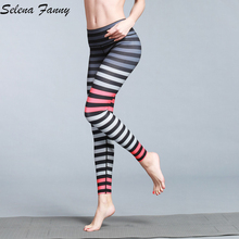 Buy Slim Stripe Quick Dry Yoga Pants Women Sport Yoga Athletic Leggings Fitness Tights Jogging Running Pants Workout Trousers S-XL for $14.39 in AliExpress store