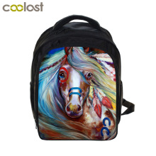 13 inch War Horse Backpack Kids School Bags For Boys Girls Pony Backpacks Children Backpack Book Bag Schoolbags Best Gift Bag