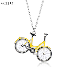 MQCHUN Bicycle Pendant Necklace Poular Shared Bikes OFO Creative Christmas Gift for Unisex Rock Sport Women Men Jewelry(China)