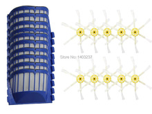 10 Side Brushes & 10 Aero Vac Filters for iRobot Roomba 550 Series Vacuum Cleaner Accessory Kit Replacement