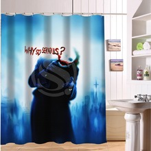 Fashionable Joker Why So Serious Custom Polyester waterproof Shower Curtain 60x72(China)
