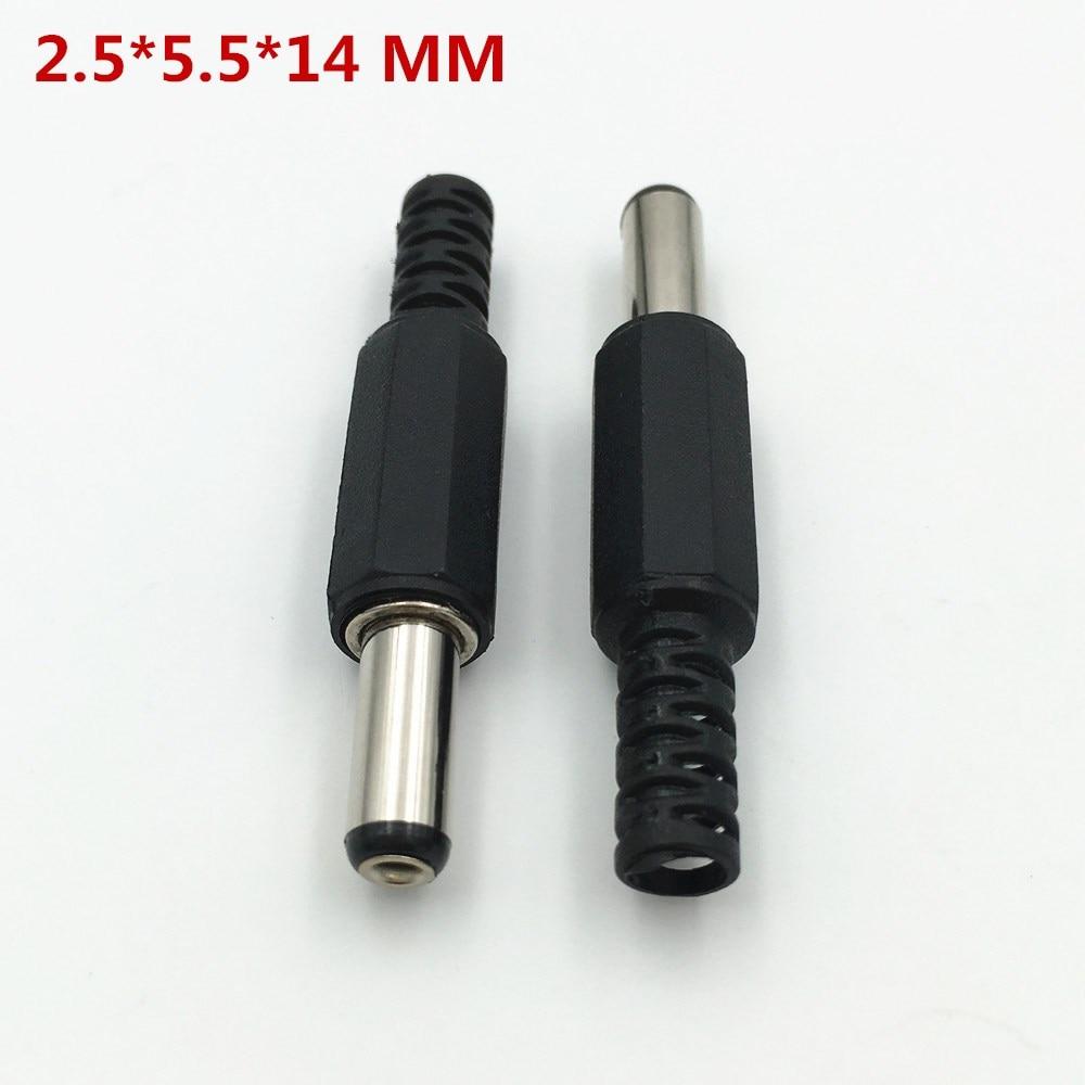 2.1mm x 5.5mm x 9mm angolo retto 90 gradi spina di alimentazione DC connettore di saldatura x 10