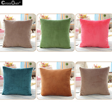 Hot sale Mink wool plush Cushion Cover 40CM 45CM 50CM 3 sizes square decorative pillow covers for car sofa cushion and throws(China)