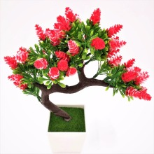 2017 New arrival Artificial decorative flowers wreaths plants tree flower bonsai fake flowers pine trees Komatsu flower vase