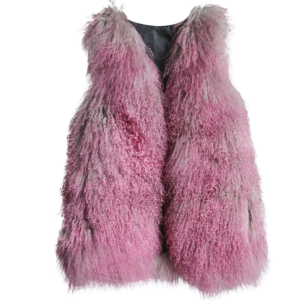 mongolia lamb fur vest