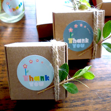 "100PCS Lovely Flower ""Thank You"" Gift Decor Stickers,Bakery Cookie Packaging Bag Lamination Paper Seal Labels"