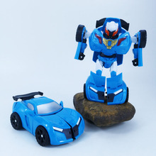 Cartoon transformer toy robot car cool brother treasure deformation portfolio manually educational training