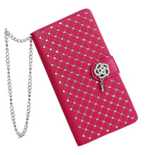 Luxury Bling Rhinestone Diamond Glitter Leather Flip Wallet Case For LG G4 G5 G3 G2 Case Cover Stand Card Phone Case for Women(China)