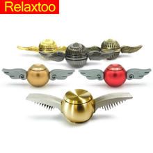 NEW Fidget Spinner Hand Harry Potter Golden Snitch Metal Toys for kids adult Finger Spinners Cupid Angel Wings Spiner Gift Drum(China)