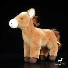 Children'S Toy  Yellow Foal Doll Simulation  Stuffed Animals  Cute  Horses  Plush Toys Ornaments